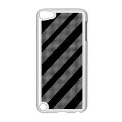 Black and gray lines Apple iPod Touch 5 Case (White)