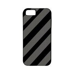 Black and gray lines Apple iPhone 5 Classic Hardshell Case (PC+Silicone)