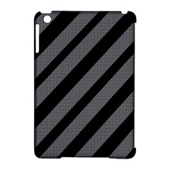 Black and gray lines Apple iPad Mini Hardshell Case (Compatible with Smart Cover)