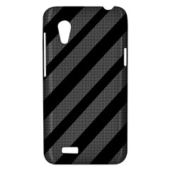 Black and gray lines HTC Desire VT (T328T) Hardshell Case