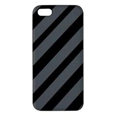 Black and gray lines Apple iPhone 5 Premium Hardshell Case