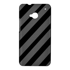 Black and gray lines HTC One M7 Hardshell Case