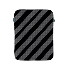 Black and gray lines Apple iPad 2/3/4 Protective Soft Cases