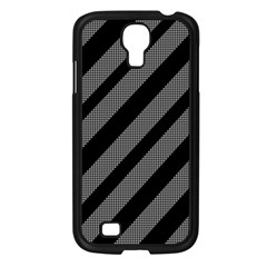 Black and gray lines Samsung Galaxy S4 I9500/ I9505 Case (Black)