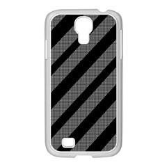 Black and gray lines Samsung GALAXY S4 I9500/ I9505 Case (White)