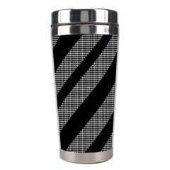 Black and gray lines Stainless Steel Travel Tumblers