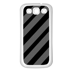 Black and gray lines Samsung Galaxy S3 Back Case (White)