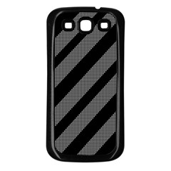 Black and gray lines Samsung Galaxy S3 Back Case (Black)
