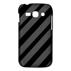 Black and gray lines Samsung Galaxy Ace 3 S7272 Hardshell Case