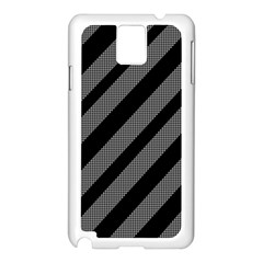 Black and gray lines Samsung Galaxy Note 3 N9005 Case (White)