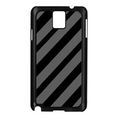 Black and gray lines Samsung Galaxy Note 3 N9005 Case (Black)