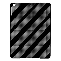 Black and gray lines iPad Air Hardshell Cases