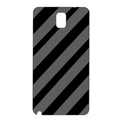 Black and gray lines Samsung Galaxy Note 3 N9005 Hardshell Back Case