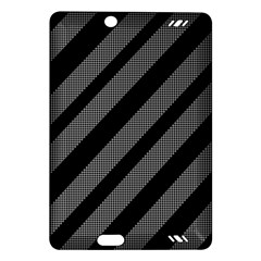 Black and gray lines Amazon Kindle Fire HD (2013) Hardshell Case