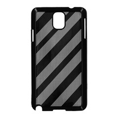 Black and gray lines Samsung Galaxy Note 3 Neo Hardshell Case (Black)