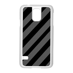 Black and gray lines Samsung Galaxy S5 Case (White)