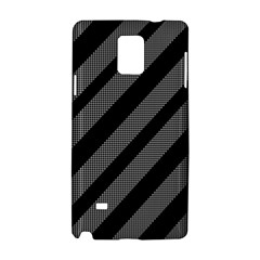 Black and gray lines Samsung Galaxy Note 4 Hardshell Case