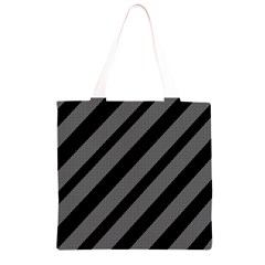Black and gray lines Grocery Light Tote Bag