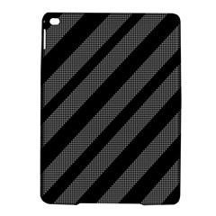 Black and gray lines iPad Air 2 Hardshell Cases