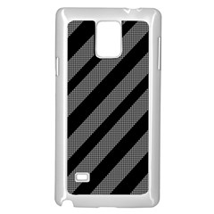Black and gray lines Samsung Galaxy Note 4 Case (White)