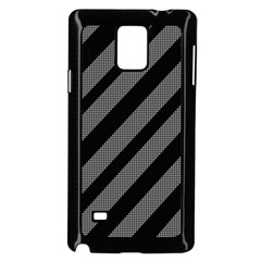 Black and gray lines Samsung Galaxy Note 4 Case (Black)