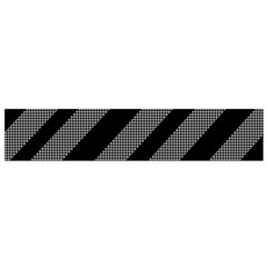 Black and gray lines Flano Scarf (Small)