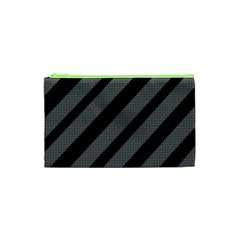 Black and gray lines Cosmetic Bag (XS)