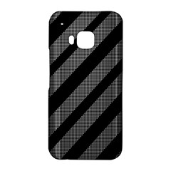 Black and gray lines HTC One M9 Hardshell Case