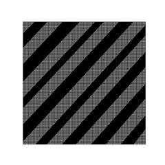 Black and gray lines Small Satin Scarf (Square)