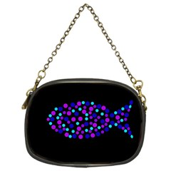Purple fish Chain Purses (Two Sides)