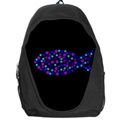 Purple fish Backpack Bag