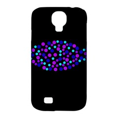 Purple fish Samsung Galaxy S4 Classic Hardshell Case (PC+Silicone)