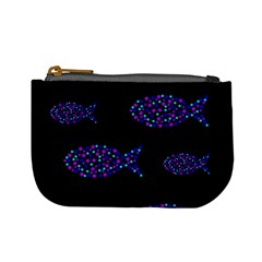 Purple fishes pattern Mini Coin Purses