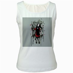 Come Play With Me   Women s White Tank Top