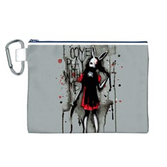 Come Play With Me   Canvas Cosmetic Bag (L)