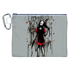Come Play With Me   Canvas Cosmetic Bag (XXL)
