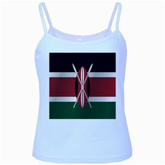 Flag Of Kenya Baby Blue Spaghetti Tank