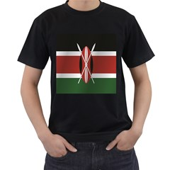 Flag Of Kenya Men s T-Shirt (Black) (Two Sided)