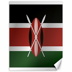 Flag Of Kenya Canvas 18  x 24