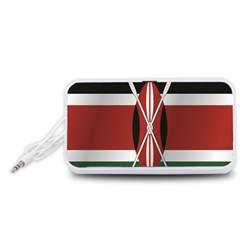 Flag Of Kenya Portable Speaker (White)