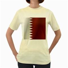 Flag Of Qatar Women s Yellow T-Shirt