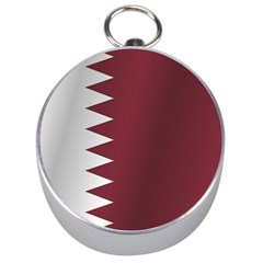 Flag Of Qatar Silver Compasses