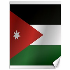 Flag Of Jordan Canvas 36  x 48