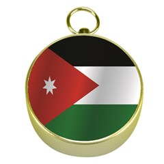 Flag Of Jordan Gold Compasses