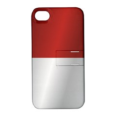 Flag Of Indonesia Apple iPhone 4/4S Hardshell Case with Stand