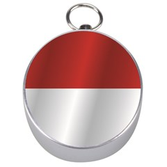 Flag Of Indonesia Silver Compasses