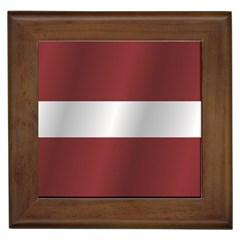 Flag Of Latvia Framed Tiles
