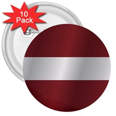 Flag Of Latvia 3  Buttons (10 pack)
