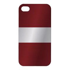 Flag Of Latvia Apple iPhone 4/4S Hardshell Case