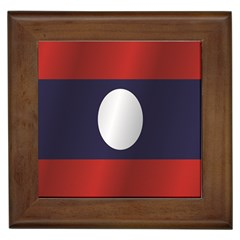 Flag Of Laos Framed Tiles